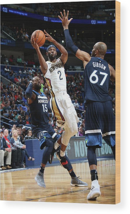 Smoothie King Center Wood Print featuring the photograph Ian Clark by Layne Murdoch