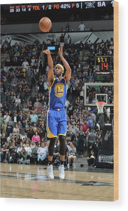 Nba Pro Basketball Wood Print featuring the photograph Ian Clark by Mark Sobhani