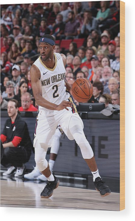 Nba Pro Basketball Wood Print featuring the photograph Ian Clark by Sam Forencich
