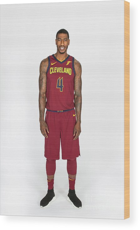 Media Day Wood Print featuring the photograph Iman Shumpert by Michael J. Lebrecht Ii