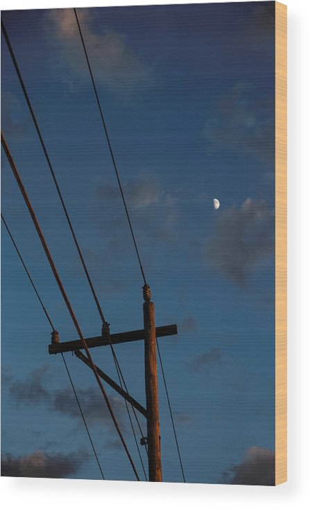 Dramatic Sky Wood Print featuring the photograph Into the Night by Straublund Photography