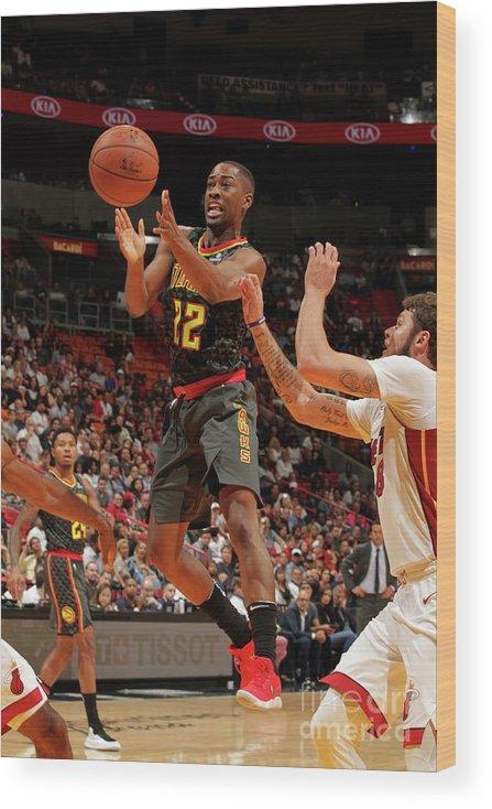 Nba Pro Basketball Wood Print featuring the photograph Isaiah Taylor by Oscar Baldizon