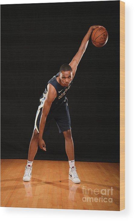 Nba Pro Basketball Wood Print featuring the photograph Ivan Rabb by Brian Babineau