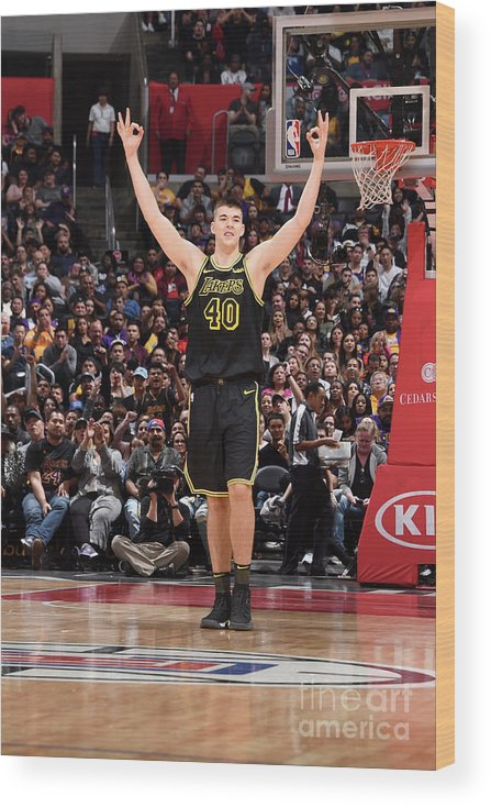 Nba Pro Basketball Wood Print featuring the photograph Ivica Zubac by Adam Pantozzi