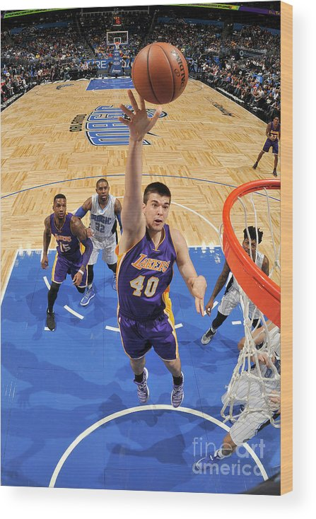 Nba Pro Basketball Wood Print featuring the photograph Ivica Zubac by Fernando Medina