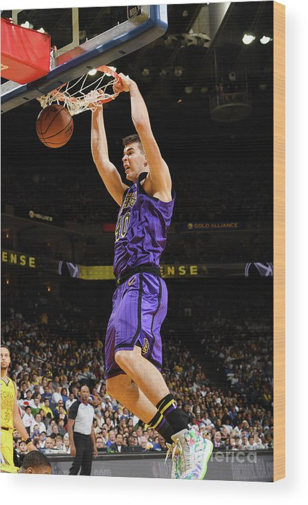 Nba Pro Basketball Wood Print featuring the photograph Ivica Zubac by Noah Graham