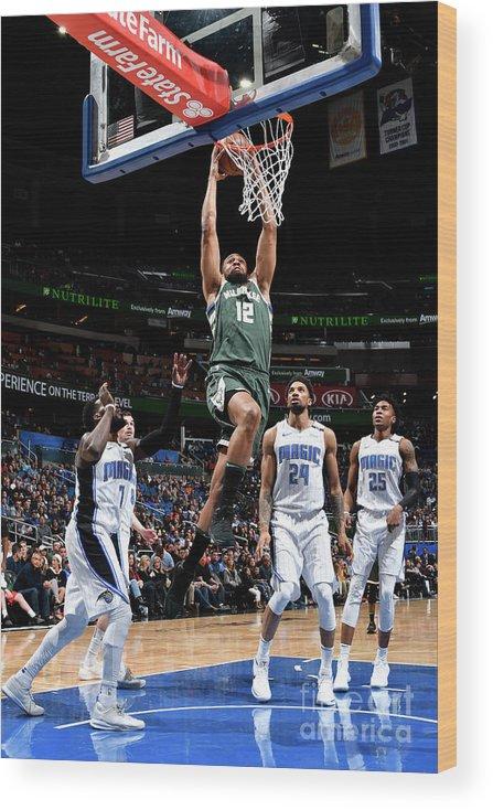 Nba Pro Basketball Wood Print featuring the photograph Jabari Parker by Fernando Medina
