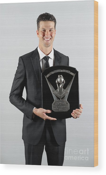 Jacob Degrom Wood Print featuring the photograph Jacob Degrom by Alex Trautwig