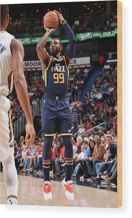 Smoothie King Center Wood Print featuring the photograph Jae Crowder by Bill Baptist
