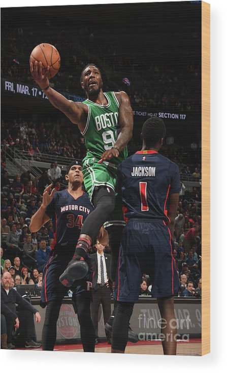 Nba Pro Basketball Wood Print featuring the photograph Jae Crowder by Chris Schwegler