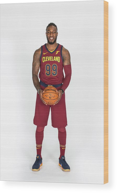 Media Day Wood Print featuring the photograph Jae Crowder by Michael J. Lebrecht Ii