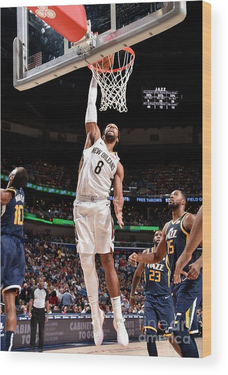 Smoothie King Center Wood Print featuring the photograph Jahlil Okafor by Bill Baptist