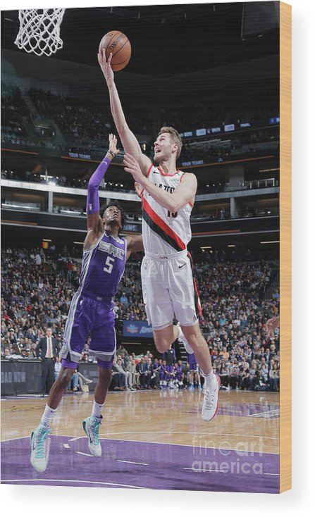Nba Pro Basketball Wood Print featuring the photograph Jake Layman by Rocky Widner