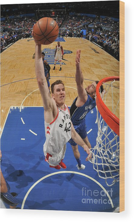Nba Pro Basketball Wood Print featuring the photograph Jakob Poeltl by Fernando Medina