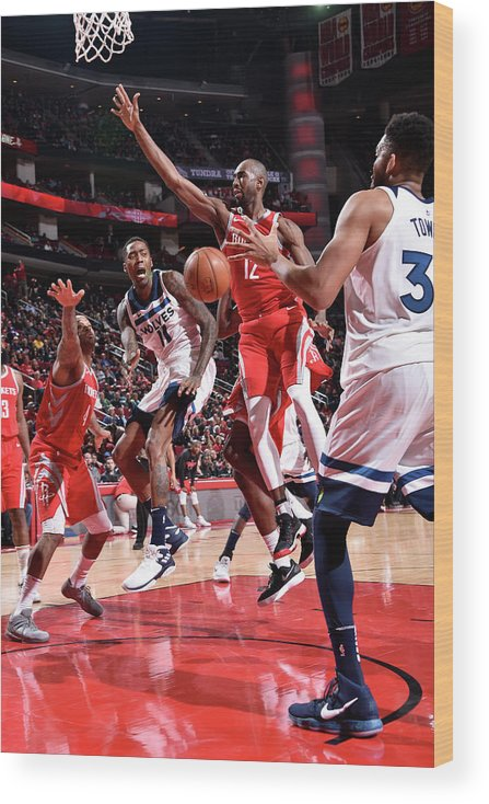 Nba Pro Basketball Wood Print featuring the photograph Jamal Crawford by Bill Baptist