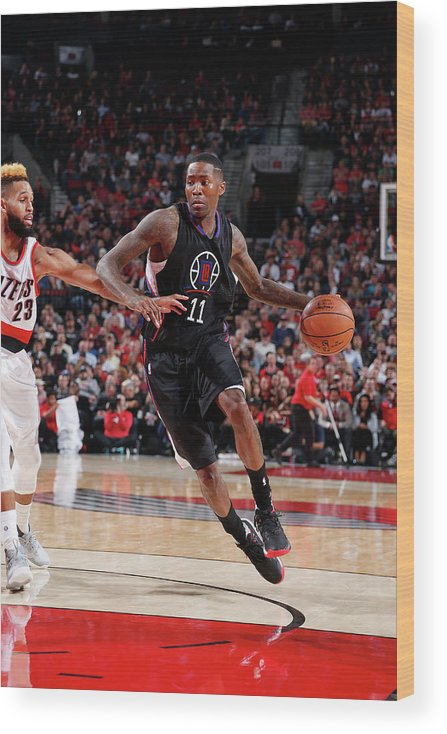 Nba Pro Basketball Wood Print featuring the photograph Jamal Crawford by Sam Forencich