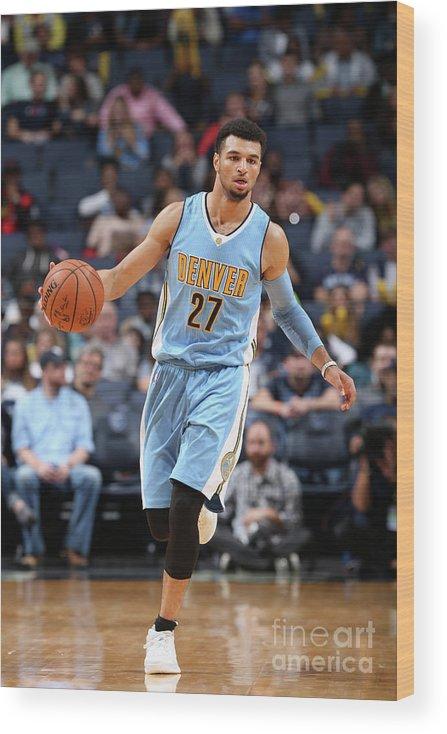 Nba Pro Basketball Wood Print featuring the photograph Jamal Murray by Joe Murphy