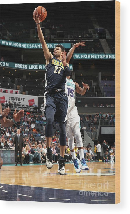 Nba Pro Basketball Wood Print featuring the photograph Jamal Murray by Kent Smith
