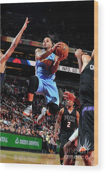 Nba Pro Basketball Wood Print featuring the photograph Jameer Nelson by Barry Gossage