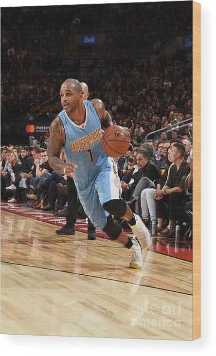 Nba Pro Basketball Wood Print featuring the photograph Jameer Nelson by Ron Turenne