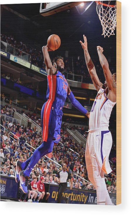 Sports Ball Wood Print featuring the photograph James Ennis by Barry Gossage