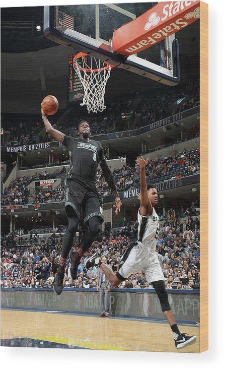 Nba Pro Basketball Wood Print featuring the photograph James Ennis by Joe Murphy