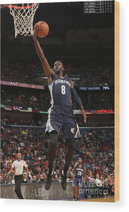 Smoothie King Center Wood Print featuring the photograph James Ennis by Layne Murdoch