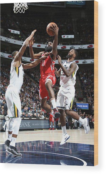 Nba Pro Basketball Wood Print featuring the photograph James Harden by Melissa Majchrzak