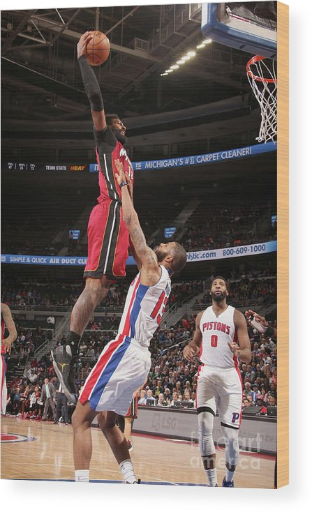 Nba Pro Basketball Wood Print featuring the photograph James Johnson by Brian Sevald