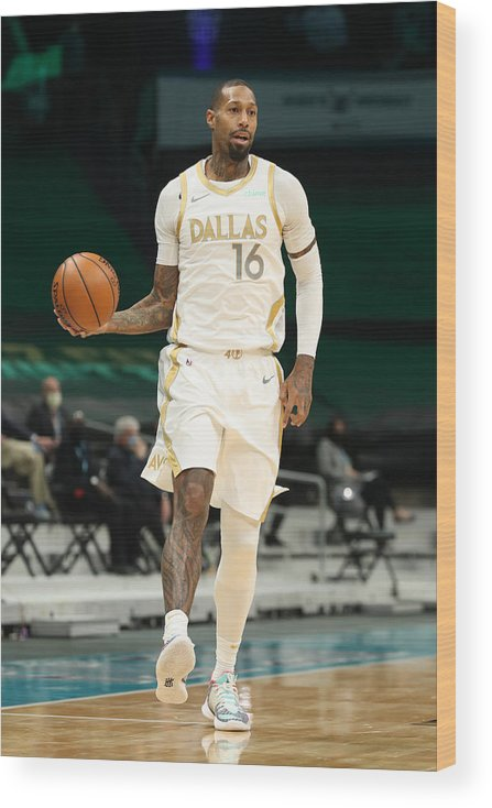 Nba Pro Basketball Wood Print featuring the photograph James Johnson by Brock Williams-Smith