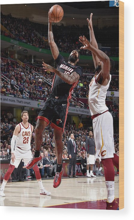 Nba Pro Basketball Wood Print featuring the photograph James Johnson by David Liam Kyle