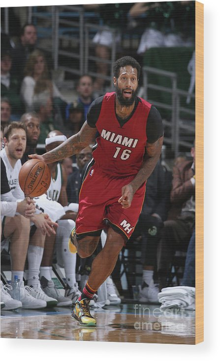 Nba Pro Basketball Wood Print featuring the photograph James Johnson by Gary Dineen