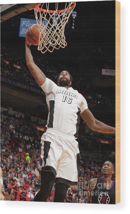 Nba Pro Basketball Wood Print featuring the photograph James Johnson by Oscar Baldizon