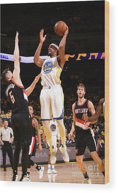 Playoffs Wood Print featuring the photograph James Michael Mcadoo by Noah Graham