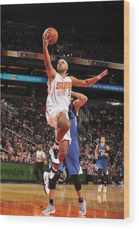 Nba Pro Basketball Wood Print featuring the photograph Jared Dudley by Barry Gossage