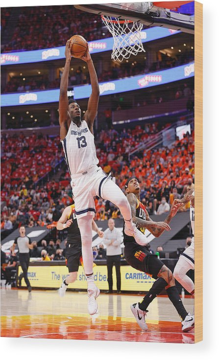 Playoffs Wood Print featuring the photograph Jaren Jackson by Jeff Swinger