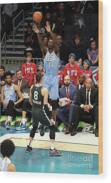 Nba Pro Basketball Wood Print featuring the photograph Jaren Jackson by Kent Smith