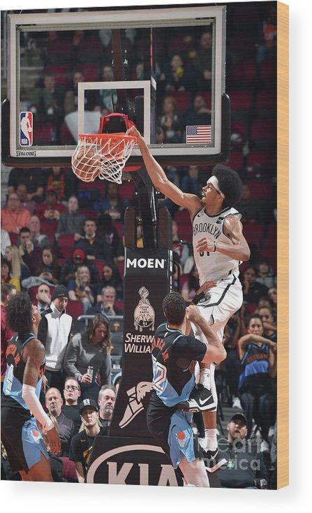 Nba Pro Basketball Wood Print featuring the photograph Jarrett Allen by David Liam Kyle