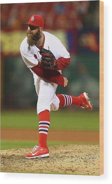 St. Louis Cardinals Wood Print featuring the photograph Jason Motte by Dilip Vishwanat
