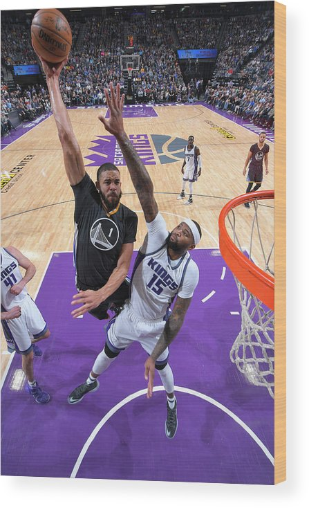 Nba Pro Basketball Wood Print featuring the photograph Javale Mcgee and Demarcus Cousins by Rocky Widner