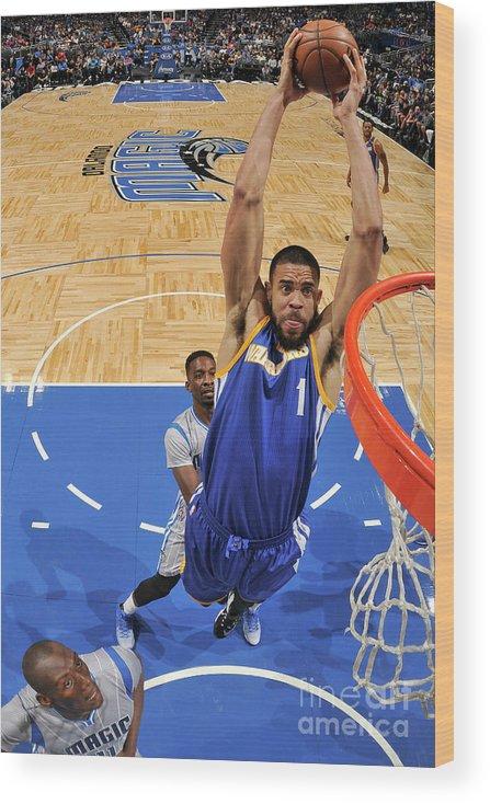 Nba Pro Basketball Wood Print featuring the photograph Javale Mcgee by Fernando Medina