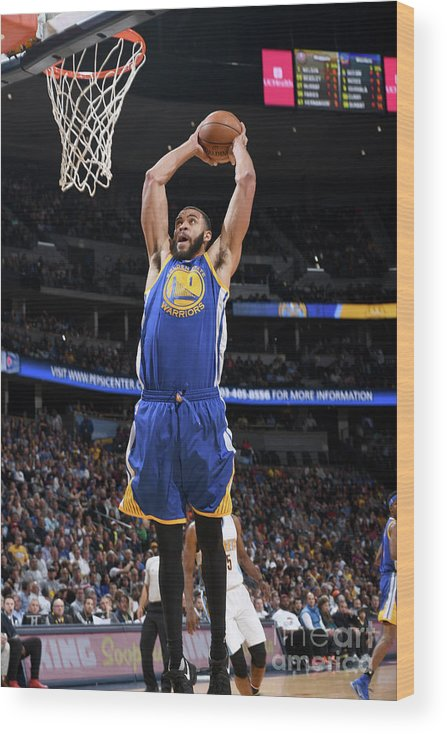 Nba Pro Basketball Wood Print featuring the photograph Javale Mcgee by Garrett Ellwood