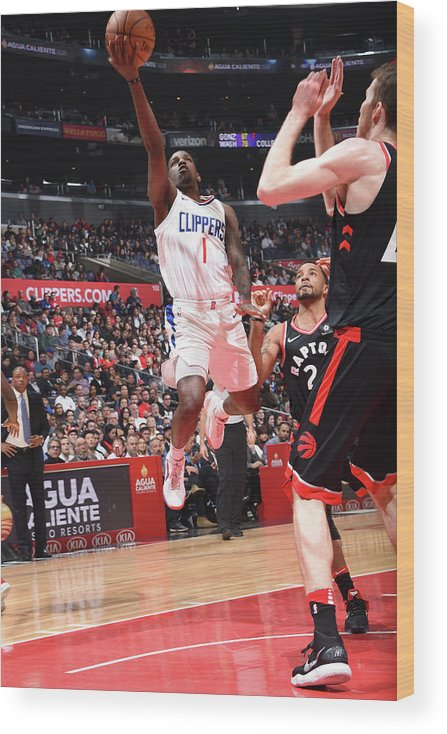 Nba Pro Basketball Wood Print featuring the photograph Jawun Evans by Andrew D. Bernstein