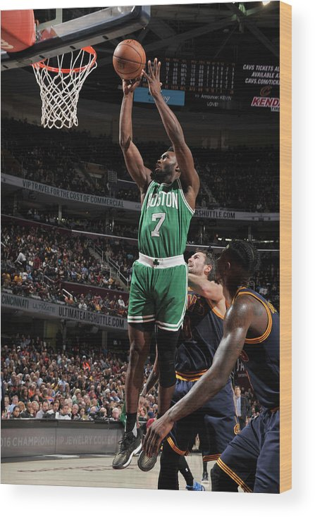Nba Pro Basketball Wood Print featuring the photograph Jaylen Brown by David Liam Kyle