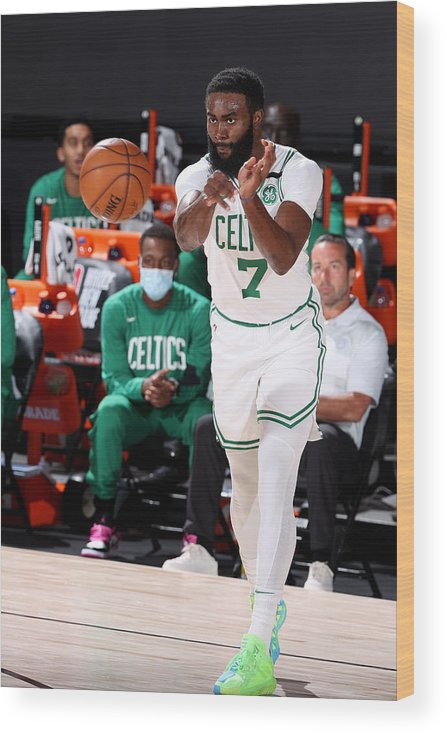 Nba Pro Basketball Wood Print featuring the photograph Jaylen Brown by David Sherman