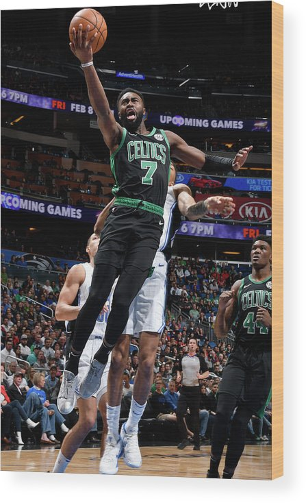 Nba Pro Basketball Wood Print featuring the photograph Jaylen Brown by Fernando Medina