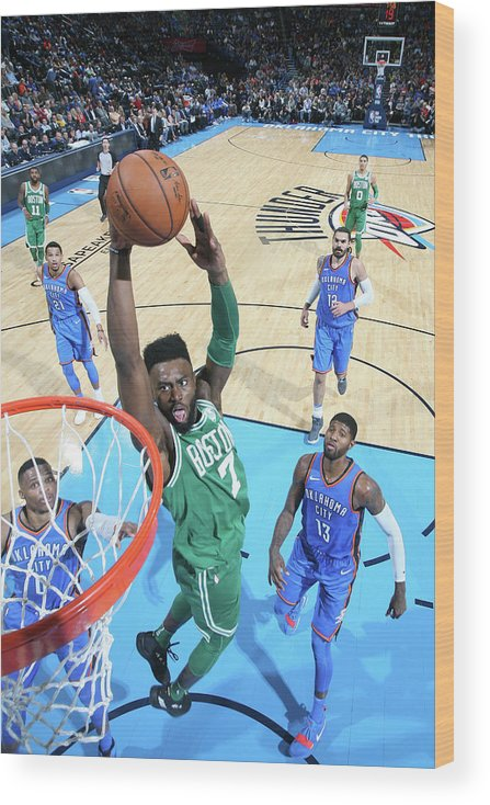Nba Pro Basketball Wood Print featuring the photograph Jaylen Brown by Layne Murdoch