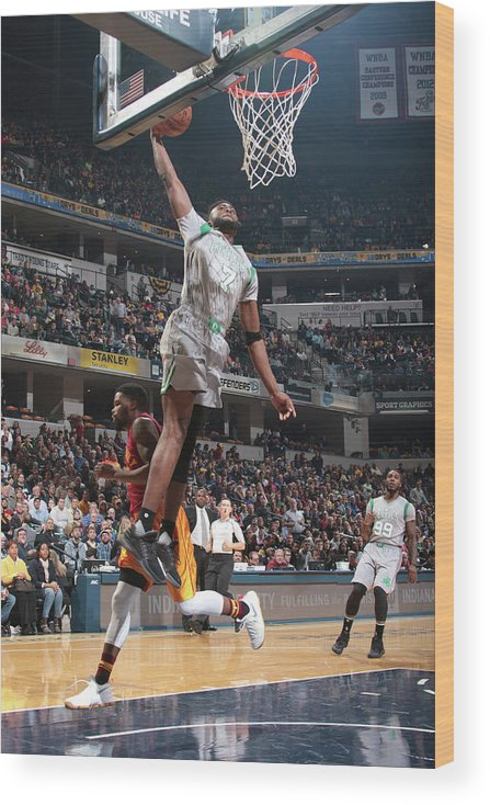 Nba Pro Basketball Wood Print featuring the photograph Jaylen Brown by Ron Hoskins
