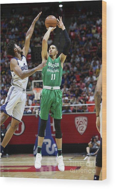 Nba Pro Basketball Wood Print featuring the photograph Jayson Tatum by Melissa Majchrzak