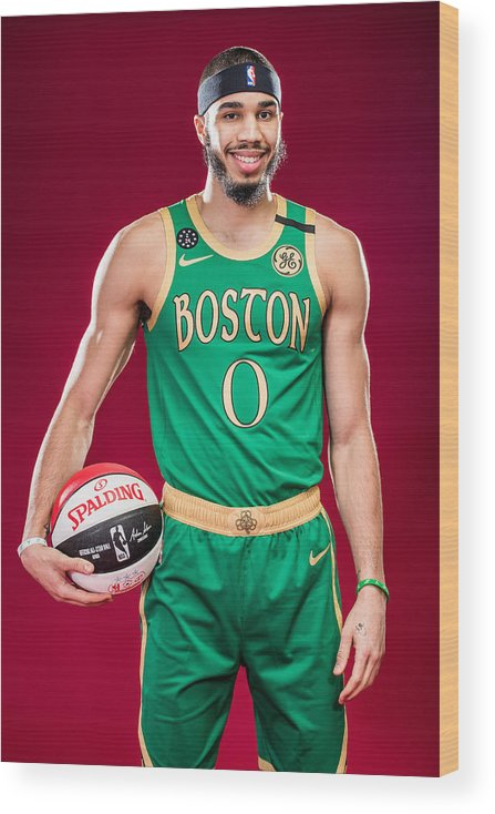 Nba Pro Basketball Wood Print featuring the photograph Jayson Tatum by Michael J. LeBrecht II